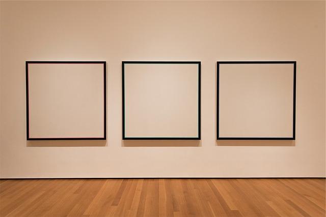 galerie d'art tableaux blancs